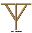 A set Square used in Ancient Egypt