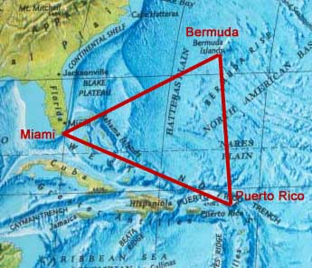 World Mysteries Mystic Places Bermuda Triangle - Map of bermuda and coast of us
